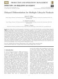 Delayed Differentiation for Multiple Lifecycle Products