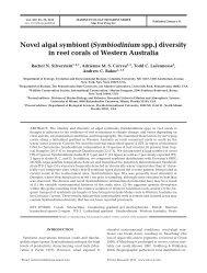Novel algal symbiont (Symbiodinium spp.) diversity in reef corals of ...