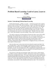 Problem Based Learning - Penn State Personal Web Server