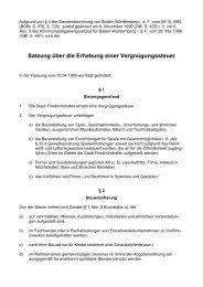 Satzung über die Erhebung einer Vergnügungssteuer