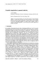 Unstable singularities in general relativity - University of Southampton
