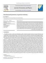 Distributional geometry in general relativity - University of ...
