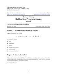Übungsblatt 6 – Prädikatenlogik und Prolog - Friedrich-Schiller ...