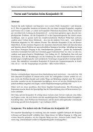 Norm und Variation beim Konjunktiv II