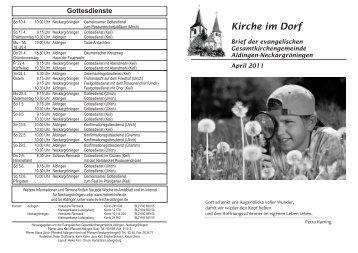 Konfirmanden 2011 - Evangelische Kirchengemeinde Aldingen am ...
