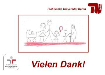 Vielen Dank! - der Personalabteilung - TU Berlin