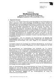 Stufenzuordnung - der Personalabteilung - TU Berlin