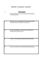 MVG-Orientierungsbogen - der Personalabteilung