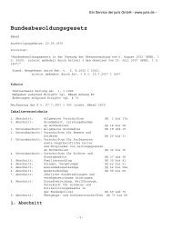Bundesbesoldungsgesetz - der Personalabteilung