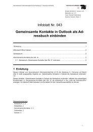 Infoblatt IT 043 - der Personalabteilung - TU Berlin