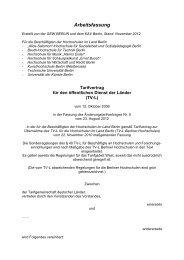 TV-L Berliner Hochschulen, Arbeitsfassung mit ÄTV 5 (PDF, 206,6 KB)
