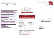 Informationen zur Pflege von Angehörigen - der Personalabteilung ...