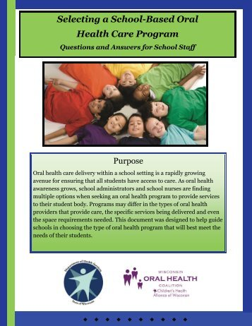 Selecting a School-Based Oral Health Care Program - Childrens ...