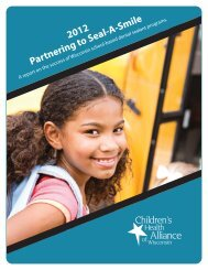 Partnering to Seal-A-Smile 2012 - Childrens Health Alliance of ...