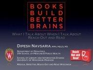 Books build better brains, 2.0 - Childrens Health Alliance of Wisconsin