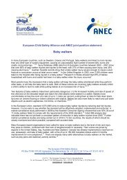 ECSA and ANEC joint position statement - EuroSafe