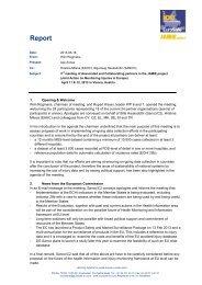 Report 3rd meeting JAMIE partners Vienna 11-12 April ... - EuroSafe