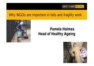 Holmes - Why NGOs are important in falls and fragility work - EuroSafe