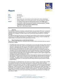 Report 2nd meeting JAMIE partners and NDAs Vienna ... - EuroSafe