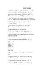 100th Day List of Ideas for Grades 3-5 - Ferguson Elementary School