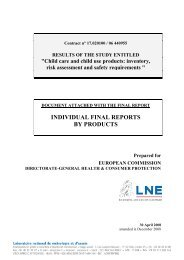 INDIVIDUAL FINAL REPORTS BY PRODUCTS - EuroSafe