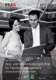 Aus- und Weiterbildungsführer für Facility Managementpdf, 5 ... - FMA