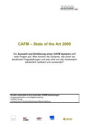 CAFM – State of the Art 2009 - FMA