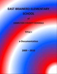 east brainerd elementary school - Hamilton County Department of ...