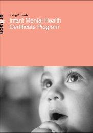Brochure Infant Mental Health Certificate - Erikson Institute