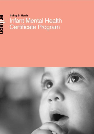 Brochure Infant Mental Health Certificate - Erikson Institute