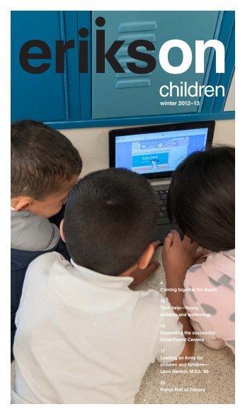 Print version On Children Winter 2012–2013 [PDF ... - Erikson Institute