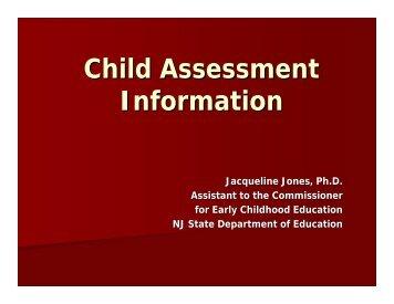 Download Child Assessment Information [PDF, 13pg]