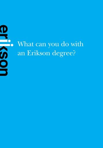 What can you do with an Erikson degree? [PDF ... - Erikson Institute
