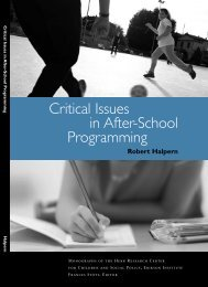 Critical issues in after-school programming - Middle Childhood ...