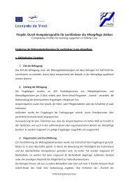 Projekt: Durch Kompetenzprofile für Lernförderer die Altenpflege ...