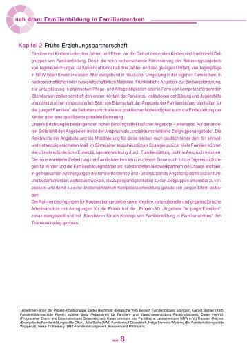 Kapitel 2 - Familienbildung in NRW