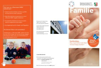Flyer zum Elternstart NRW - Nordrhein-Westfalen direkt