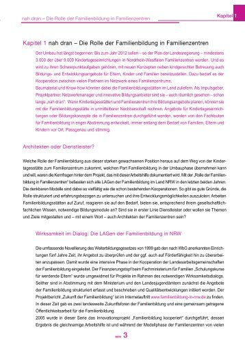 Kapitel 1 - Familienbildung in NRW