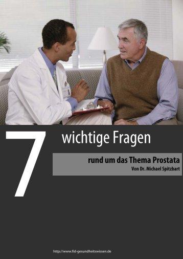 GRATIS-Spezialreport zum Thema Prostata - FID Gesundheitswissen