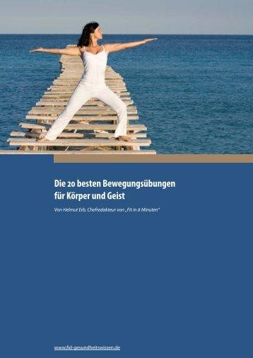 Die 20 besten Bewegungsübungen für Körper und Geist - FID ...