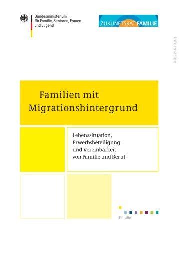 Familien mit Migrationshintergrund – Lebenssituation ...