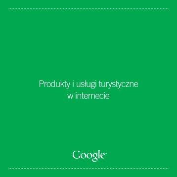 Produkty i usługi turystyczne w internecie - Google