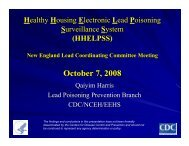 October 7, 2008 - New England Lead Coordinating Committee