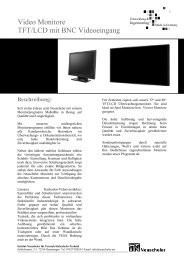 Video Monitore TFT/LCD mit BNC Videoeingang - Neuscheler
