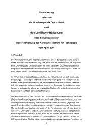Vereinbarung zwischen der Bundesrepublik Deutschland und dem ...