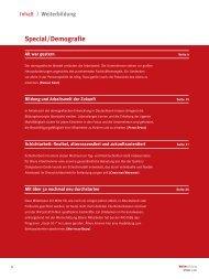 Inhaltsübersicht - Personalwirtschaft