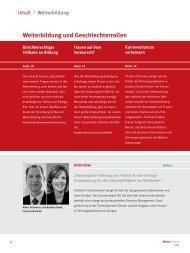 Weiterbildung und Geschlechterrollen - Personalwirtschaft