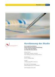 PW studie personalberichte 2009 - Personalwirtschaft