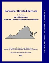 Mental Retardation Home and Community Based Services Waiver