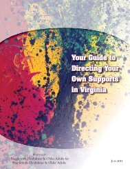 Guide to Directing Your Own Supports in Virginia - Person Centered ...